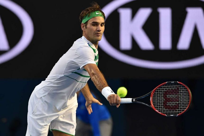 Switzerland's Roger Federer during his match against Georgia's Nikoloz Basilashivili at the 2016 Australian Open on Jan 18, 2016.