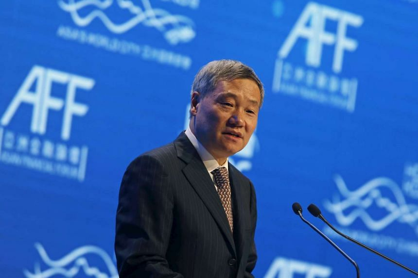 China Securities Regulatory Commission Chairman Xiao Gang addresses the Asian Financial Forum on Jan 19, 2015.