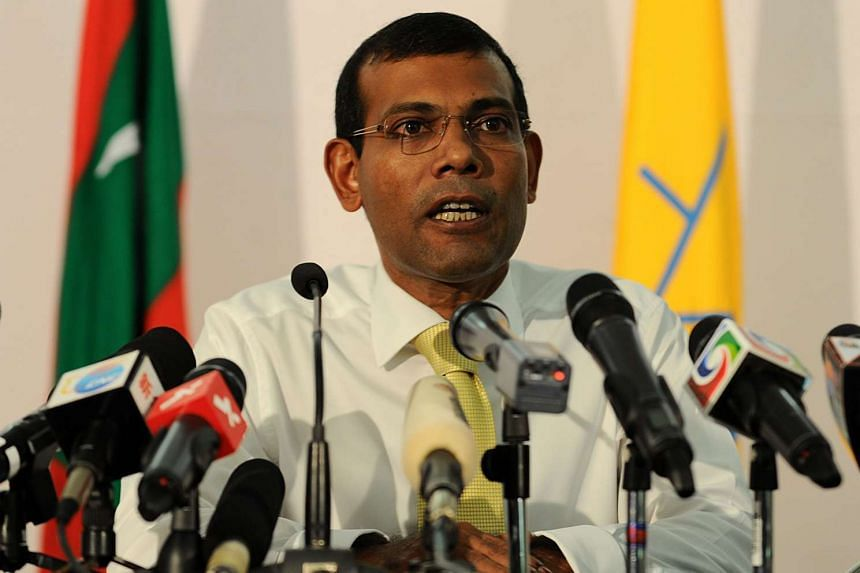 Jailed former leader Mohamed Nasheed (above) was due to travel to Britain on Sunday, Jan 17.
