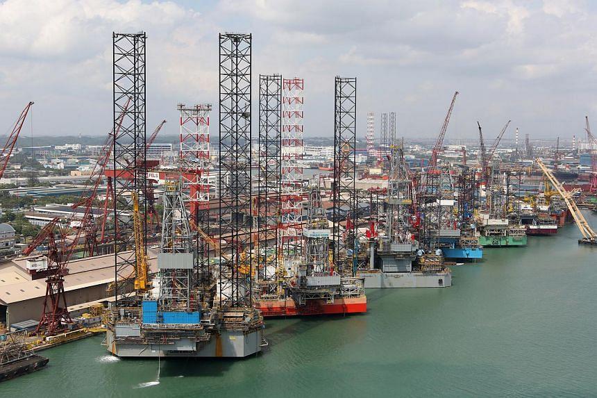 View of the Keppel FELS shipyard.