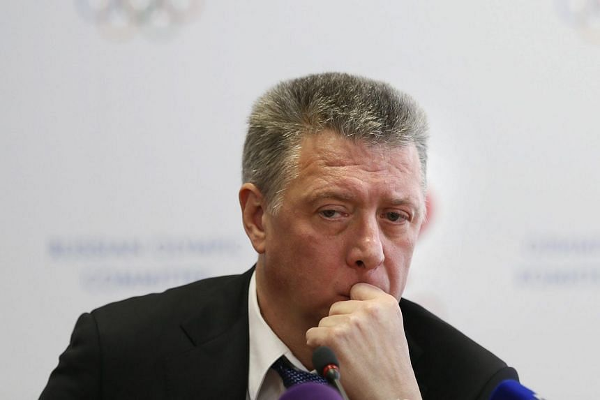 Newly-elected Russia's Athletics Federation (VFLA) president Dmitry Shlyakhtin attends a news conference in Moscow, Russia, on Jan 16, 2016.