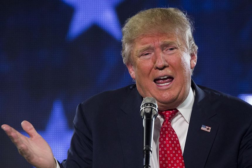 Republican presidential candidate Donald Trump speaks at a Liberty University Convocation on Jan 18, 2016.