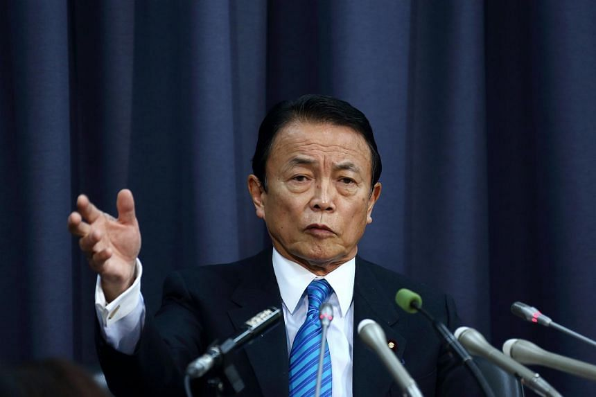 Japan's Finance Minister and Deputy Prime Minister Taro Aso.