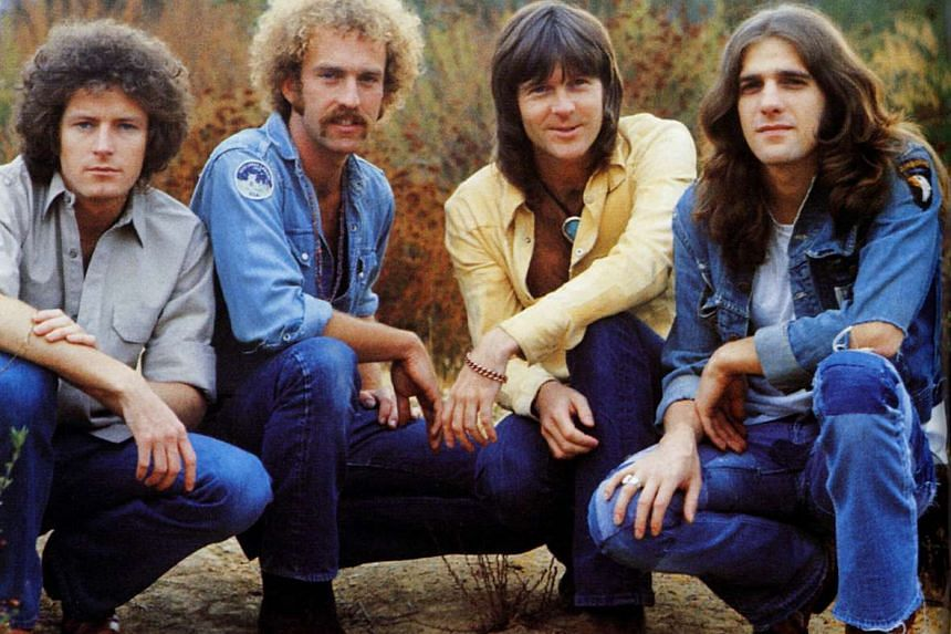 The original Eagles band in the 1970s comprising (from left) Don Henley, Bernie Leadon, Randy Meisner and Glenn Frey.