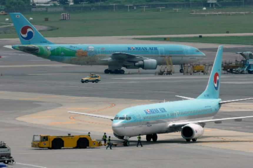 South Korea's Korean Air planes at Gimpo International Airport in Seoul, South Korea.
