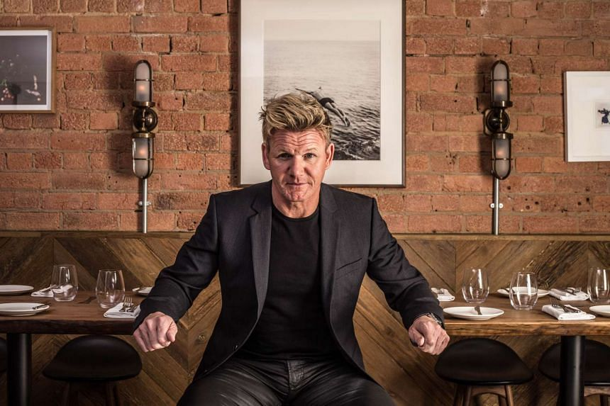 Chef Gordon Ramsay of Bread Street Kitchen at Marina Bay Sands (MBS).