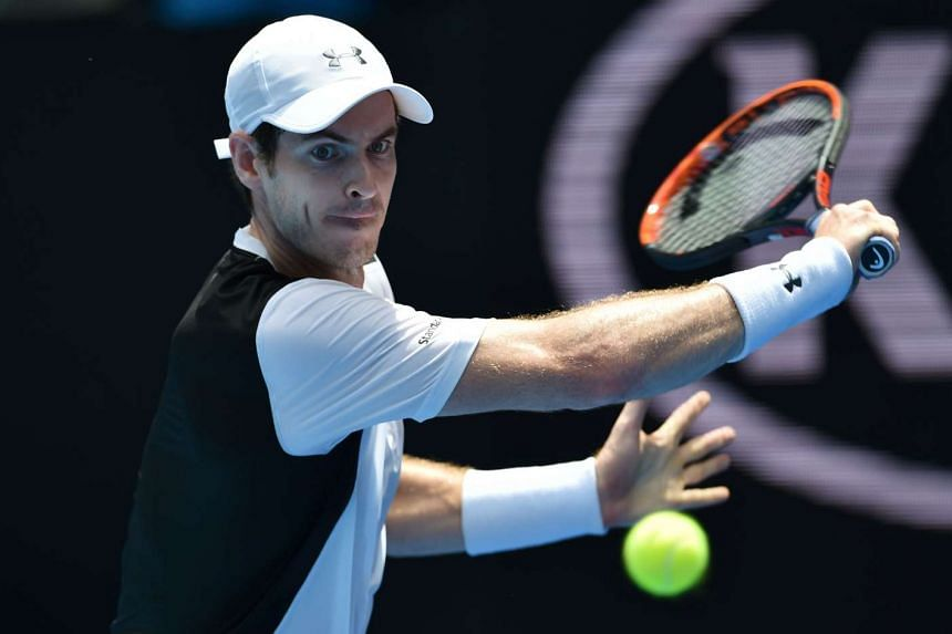 Britain's Andy Murray in action during his match against Germany's Alexander Zverev on Jan 19, 2016.