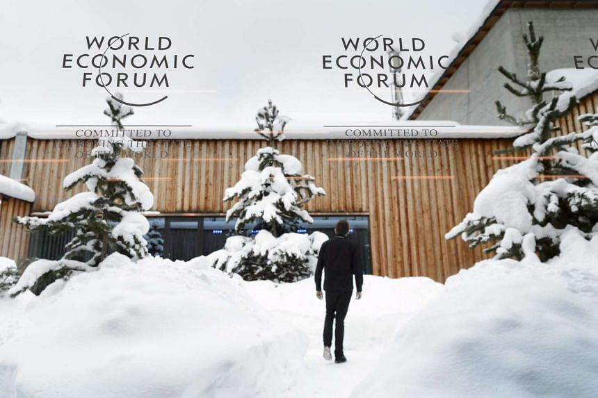 The Congress Center on the eve of the opening of 46th Annual Meeting of the World Economic Forum on Jan 19. 2016.