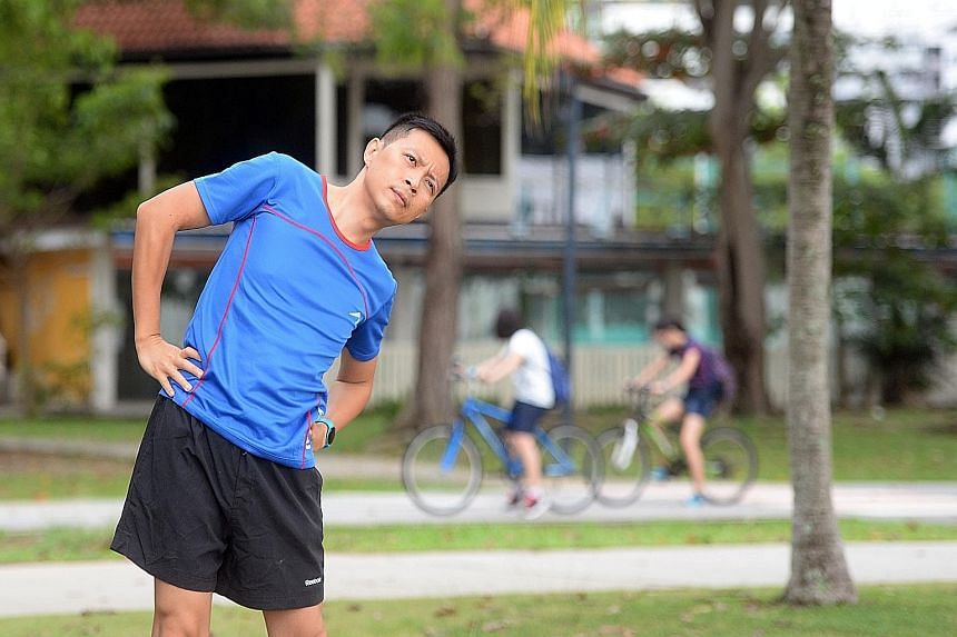 Mr Halim, who reached his peak weight of 94kg in July 2014, uses wearable technology and mobile apps to monitor his physical activities and calorie intake.