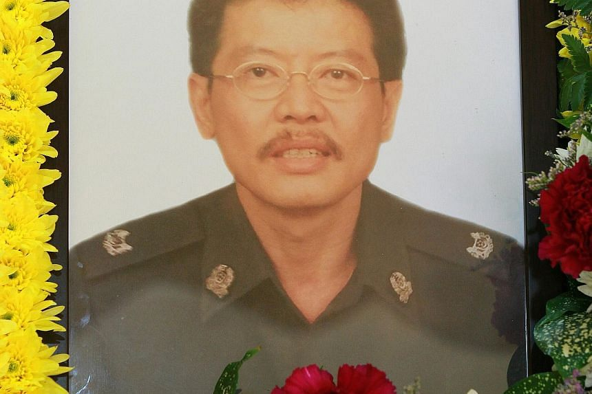Former top cop Richard Lim (above) kept detailed handwritten case notes in over 20 A4-sized notebooks.