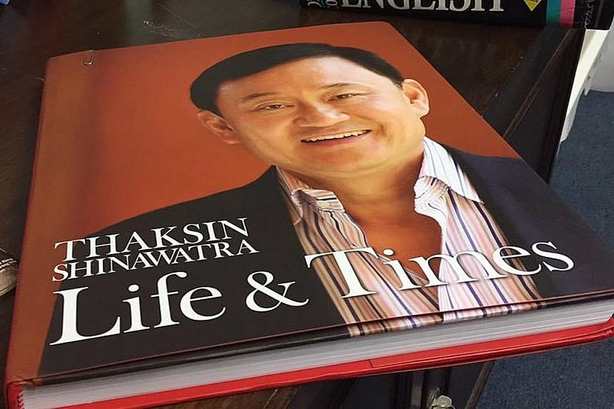 Deposed Thai premier Thaksin sent a book highlighting his achievements in office to the foreign media in Thailand.