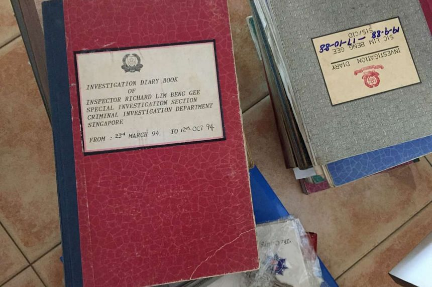 Mr Lim had accumulated over 20 A4-sized notebooks during the course of his work.