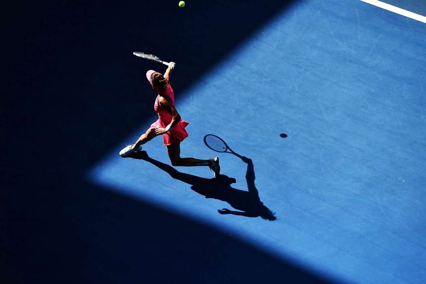 Agnieszka Radwanska of Poland in action against Christina McHale of the US during the Australian Open in Melbourne on Jan 18.