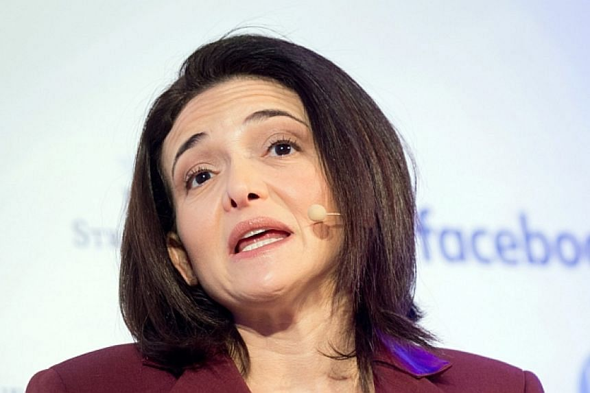 Ms Sherly Sandberg, chief operating officer of Facebook, speaks to journalists in Berlin on Monday, Jan 18.
