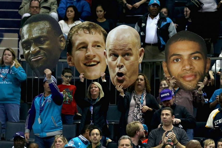 Fans of the Charlotte Hornets cheer on their team during their game against the Utah Jazz on Jan 18, 2016.