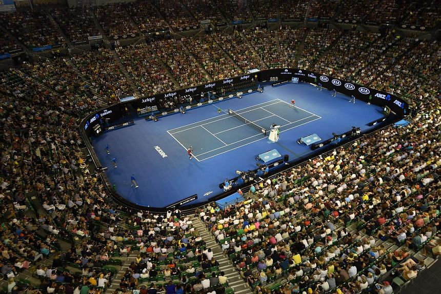 The Rod Laver Arena at the Australian Open Grand Slam tennis tournament in Melbourne, Australia, on Jan 19, 2016.