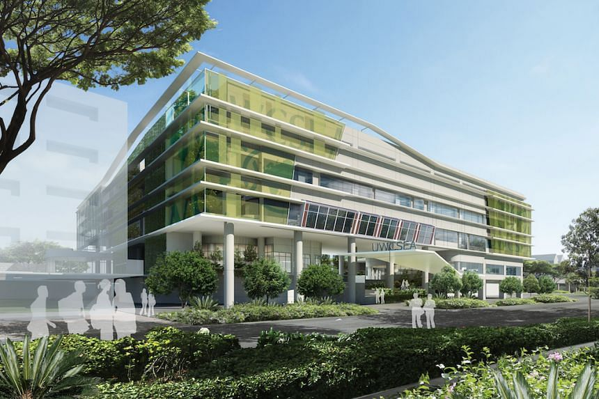 An artist's impression of the 20,000 sq m addition to United World College of South East Asia's Dover (UWCSEA) campus.