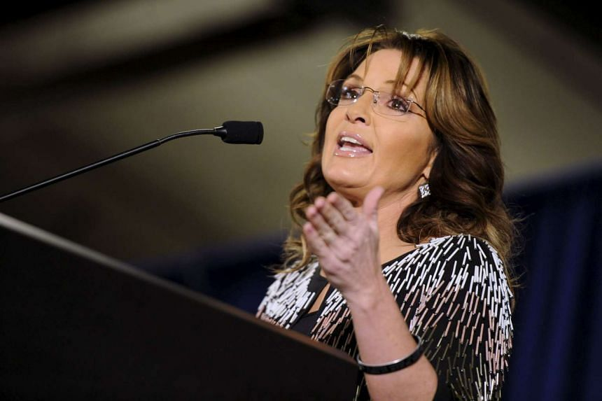Mrs Sarah Palin's (above) son was arrested on domestic violence charges.