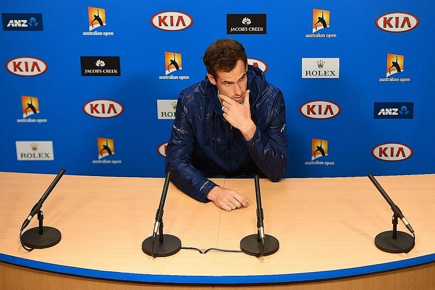 Andy Murray talking to the media after his first-round win at the Australian Open yesterday. The British player wants tennis authorities to be on the front foot on the issue of match-fixing.