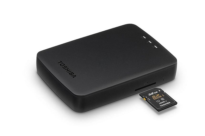 Unlike its rivals, the Toshiba Canvio AeroCast can stream videos and photos to the Google Chromecast.