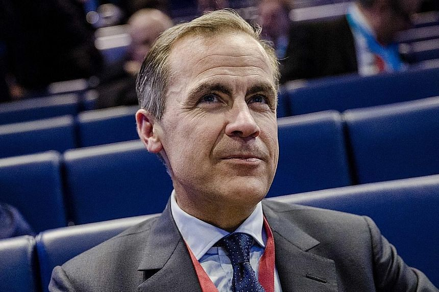 """On planned rate hikes, Mr Carney said there is """"only an expected direction of travel""""."""