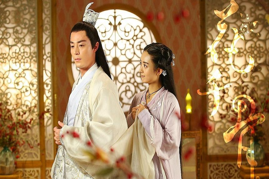 Wallace Huo and Zhao Liying (both left) play star- crossed lovers in The Journey Of Flower.