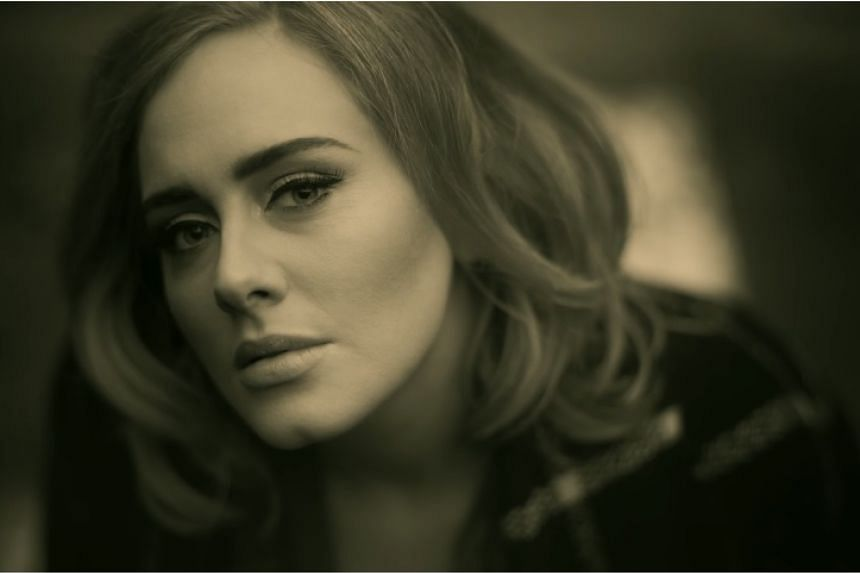 A screenshot from Adele's video for the song Hello.