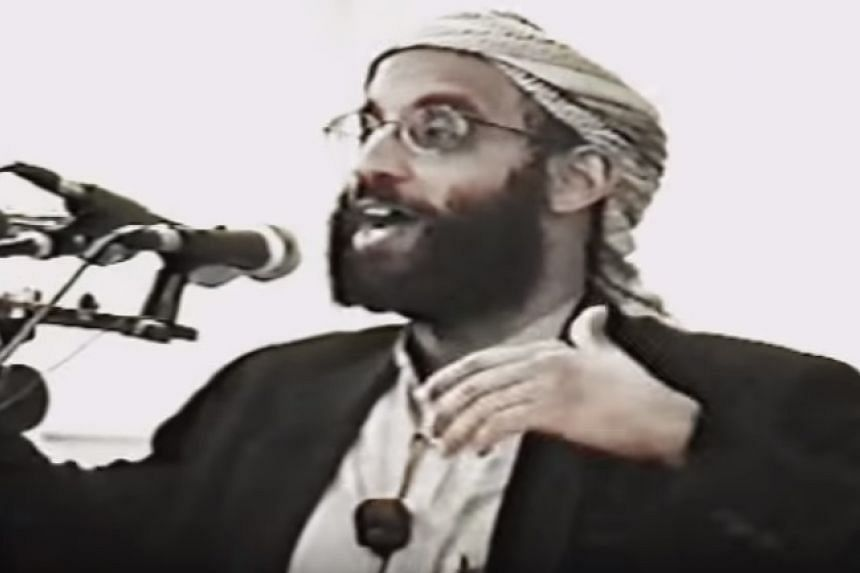 Anwar Al-Awlaki giving a sermon on YouTube.