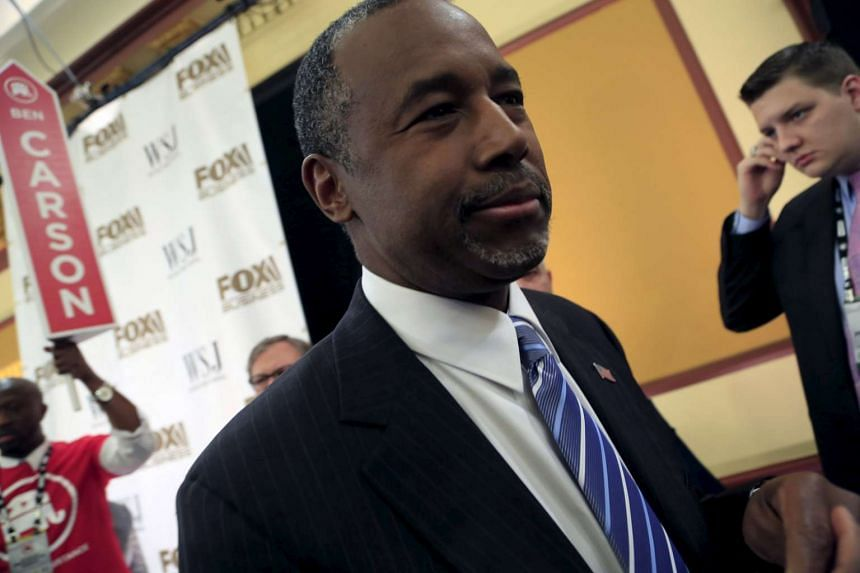 Ben Carson temporarily suspended his US presidential bid following news of the accident.