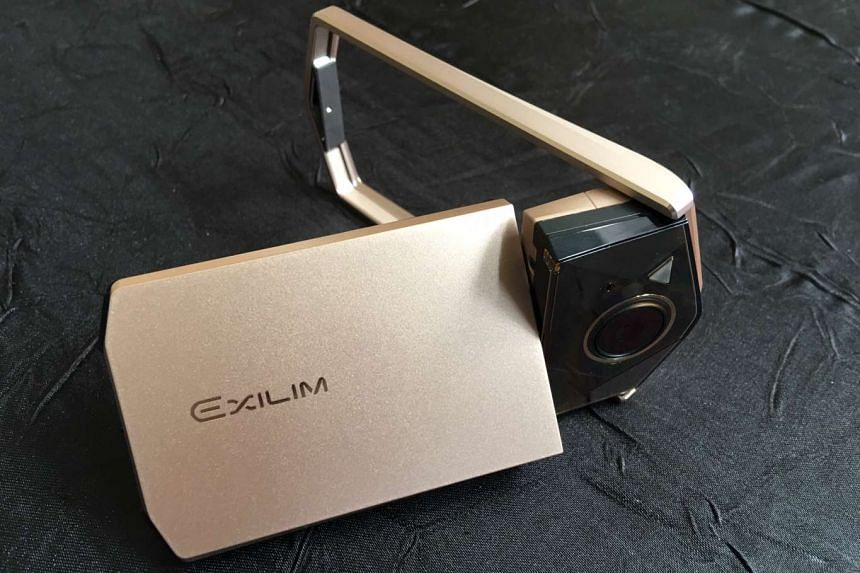 The new Casio EXILIM EX-TR70 in gold. It is also available in pink and white.