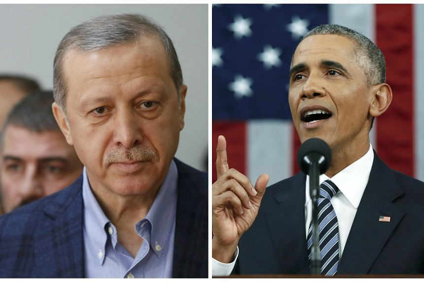 During his phone call to Erdogan (left), Obama offered his condolences for two recent terrorist attacks.
