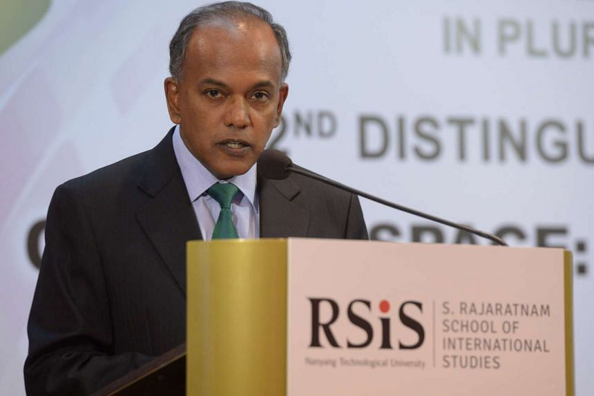 Home Affairs and Law Minister K Shanmugam at the Studies in Inter-Religious Relations in Plural Societies Programme (SRP) on Jan 19, 2016.