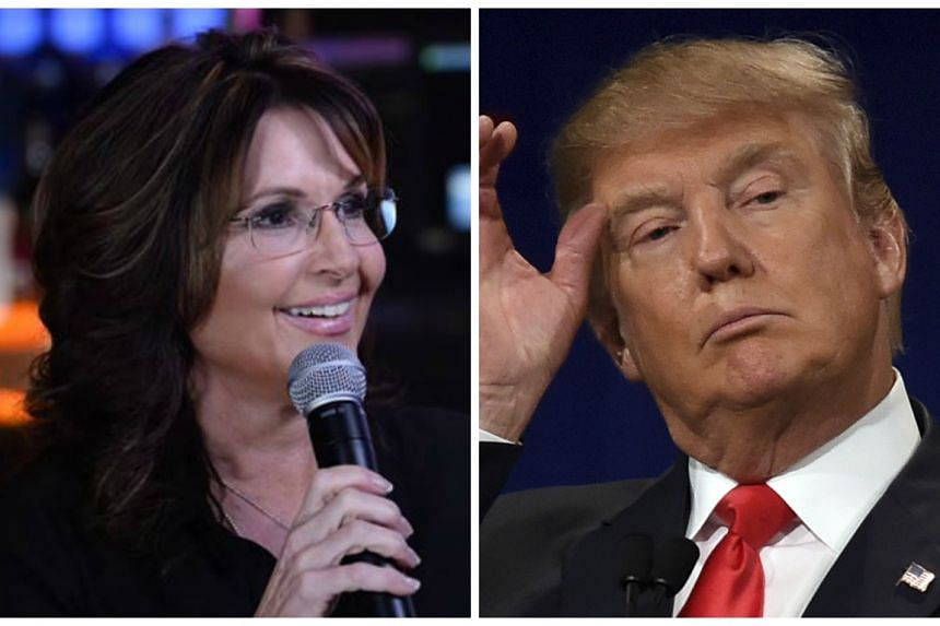 Palin (left) has endorsed billionaire businessman Donald Trump for president.