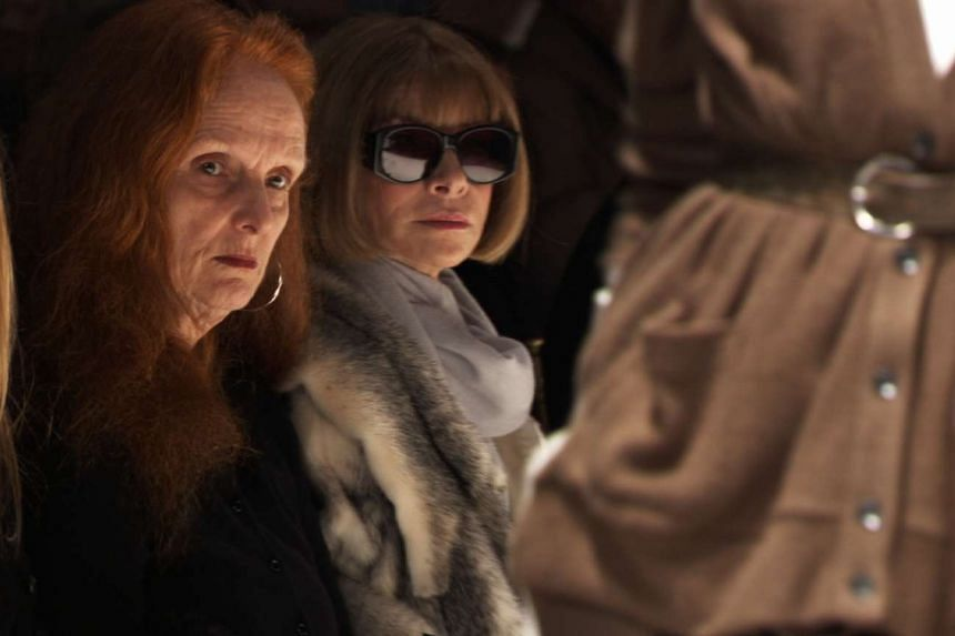 American Vogue's Grace Coddington (left), who will be stepping down as creative director, seen with editor-in-chief Anna Wintour.
