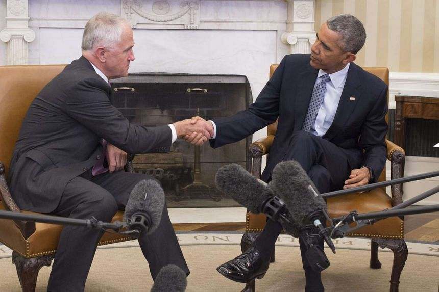 Barack Obama (right) and Malcolm Turnbull meet in the White House to discuss a variety of bilteral and global issues including  the Trans-Pacific Partnership trade agreement.