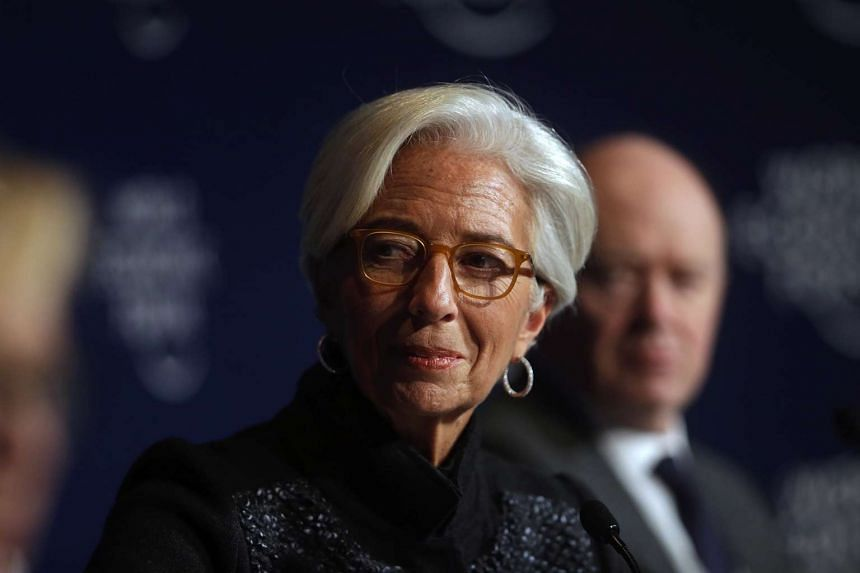 Managing director of the International Monetary Fund (IMF) Christine Lagarde at the World Economic Forum (WEF) in Davos, on Jan 20, 2016.
