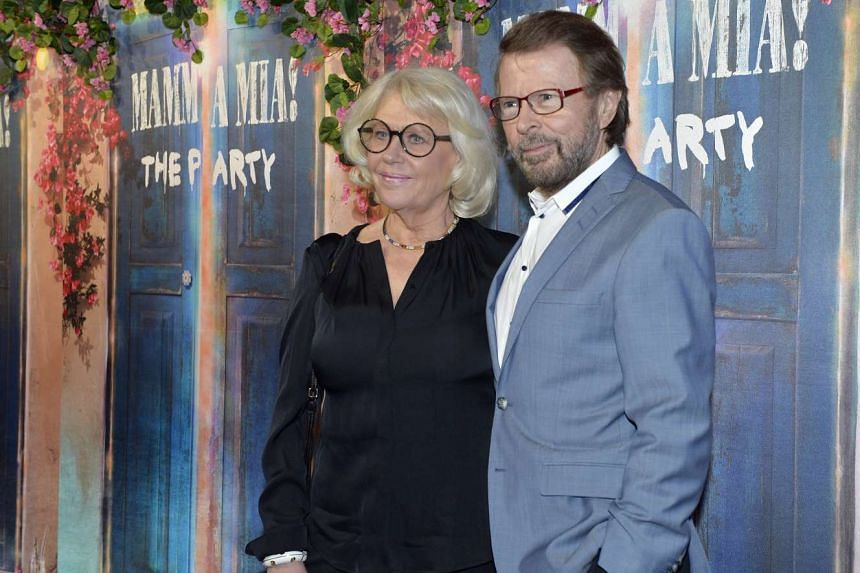 Abba's Bjorn Ulvaeus and partner Lena Kallersjo at the opening of Mamma Mia! The Party in Stockholm, Sweden, on Jan 20.