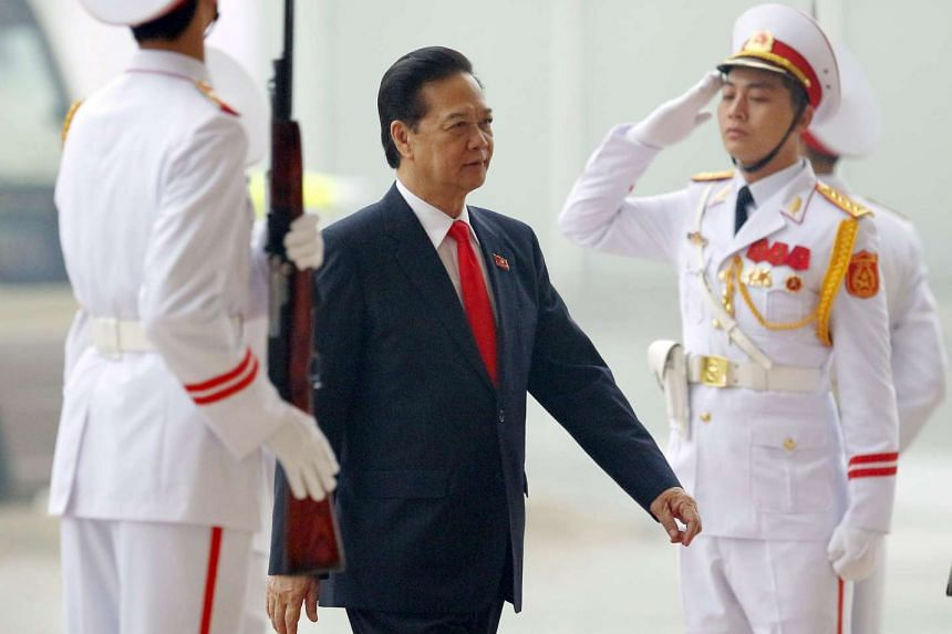 Vietnam's Prime Minister Nguyen Tan Dung (centre) at the 12th National Congress of Vietnam's Communist Party (VCP) in Hanoi, Vietnam, on Jan 21, 2016.