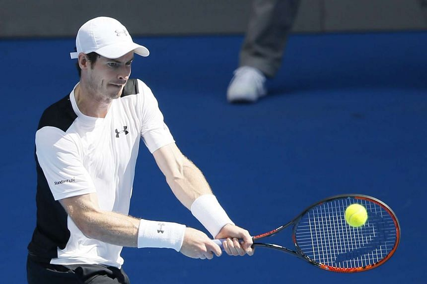 Britain's Andy Murray defeated Australia's Sam Groth to advance to the third round at the Australian Open on Jan 21, 2016.