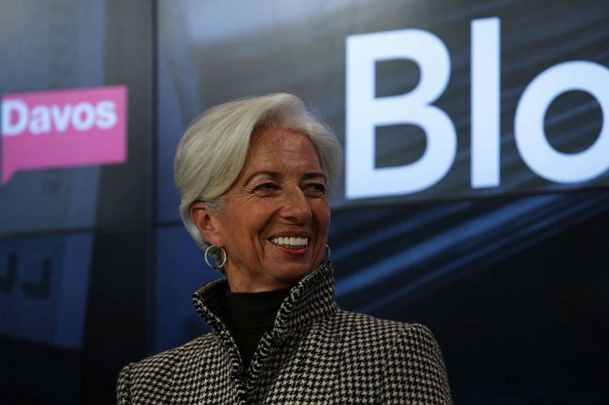 """Christine Lagarde at the """"Where is the Chinese Economy Heading?"""" forum during the World Economic Forum in Davos."""