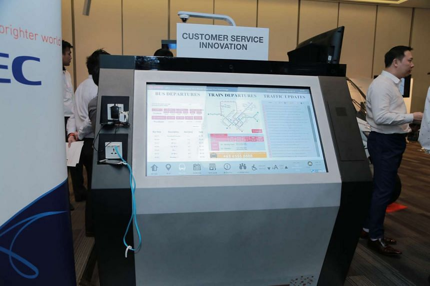 The new interactive panel to provide information to passengers, which will be placed at bus interchanges.
