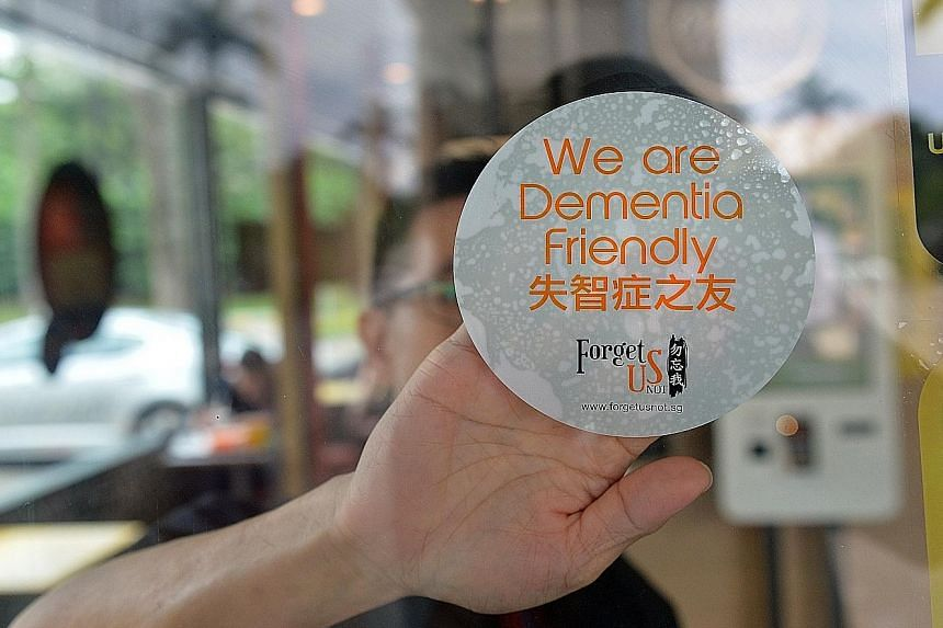 To make Yishun a dementia-friendly town, about 2,000 people - from students to frontline staff in hospitals and businesses to mosque and church members - have been trained to spot people with dementia and to interact with and help or refer them to ai