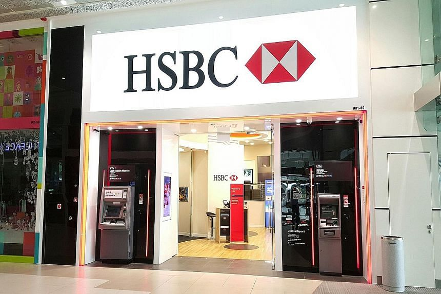 The HSBC branch at Plaza Singapura, which features a digital hub where customers can access e-banking platforms and online content.