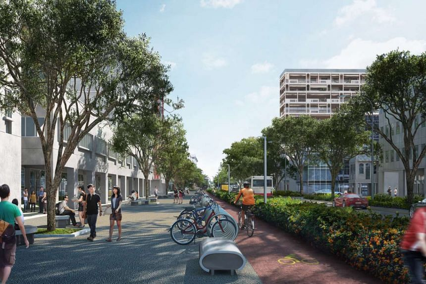 An artist's impression of proposed changes to Bencoolen Street.