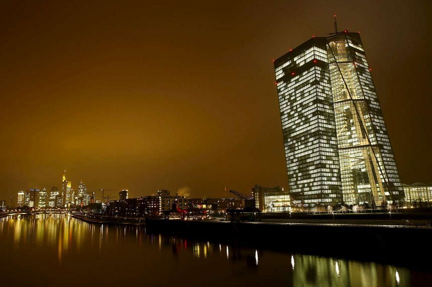 The new headquarters of the European Central Bank in Frankfurt, Germany, on Jan 19, 2016.