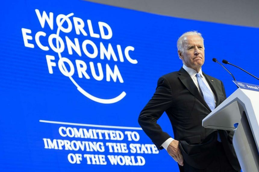 US Vice-President Joe Biden speaks during a panel session on the first day of the 46th Annual Meeting of the World Economic Forum in Davos.