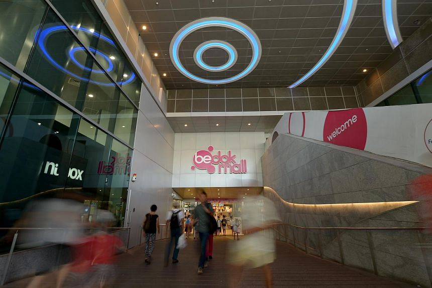 Shoppers at Bedok Mall.