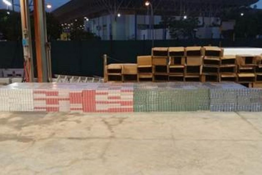More than 3,000 cartons of contraband cigarettes were seized at Jurong Port Main Gate on Wednesday, after Immigration & Checkpoints Authority (ICA) officers stopped a lorry for checks at 5.10pm.
