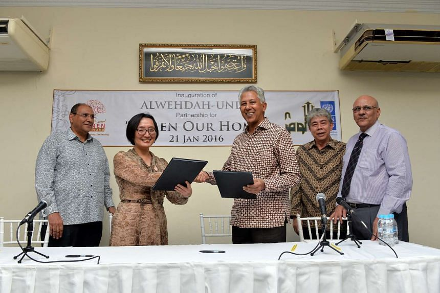 The inauguration of a partnership between Alwehdah and United Nations Development Programme (UNDP).