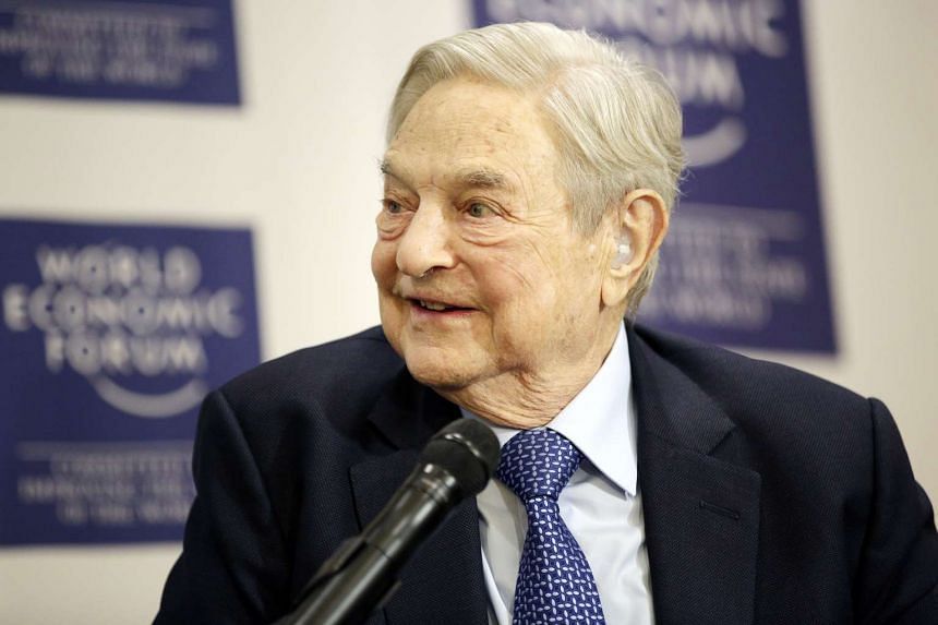American financier George Soros at the World Economic Forum in Davos on Jan 21.